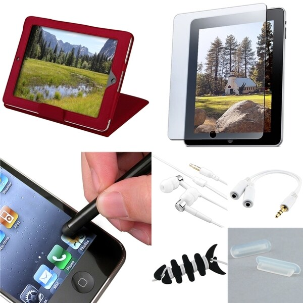 BasAcc Case/ Headset/ Stylus/ Protector/ Splitter for Apple iPad 1