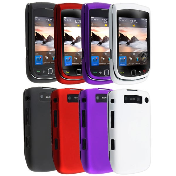 BasAcc Red/ Black/ Purple/ White Cases for Blackberry Torch 9800