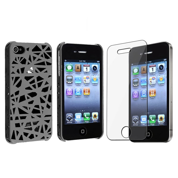 BasAcc Smoke Bird Nest Rear Case/ Protector for Apple iPhone 4/ 4s