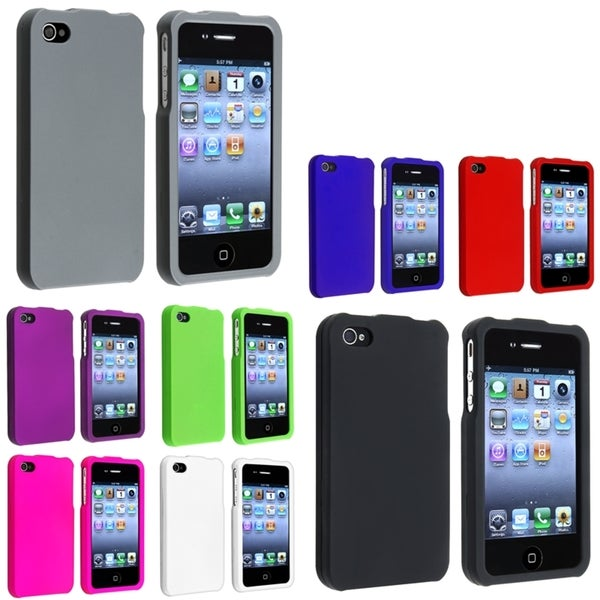 BasAcc Snap-on Rubber Coated Case Set for Apple iPhone 4/ 4S