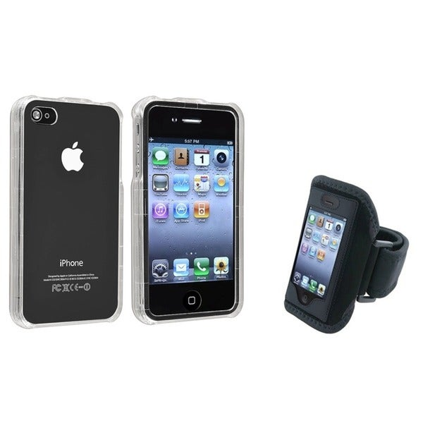 INSTEN Clear Crystal Phone Case Cover/ Armband for Apple iPhone 4/ 4S