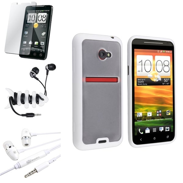 BasAcc Clear TPU Case/ Screen Protector for HTC EVO 4G LTE