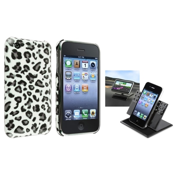 BasAcc Leopard Case/ Swivel Phone Holder for Apple iPhone 3G/ 3GS