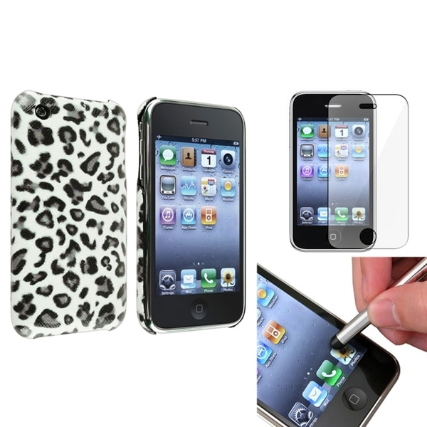 BasAcc Leopard Case/ Protector/ Stylus for Apple iPhone 3G/ 3GS