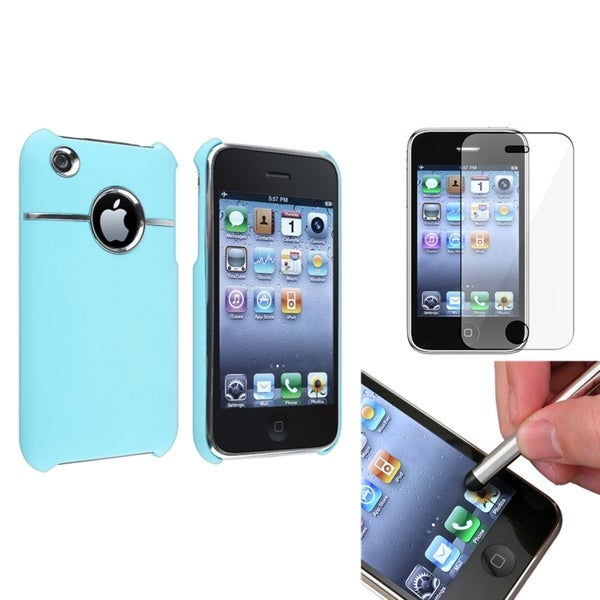 BasAcc Blue Snap-On Case/Screen Protector/Stylus for Apple iPhone 3G/3GS