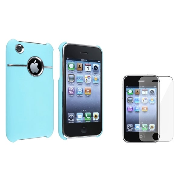BasAcc Baby Blue Case/ Screen Protector for Apple® iPhone 3G/ 3GS