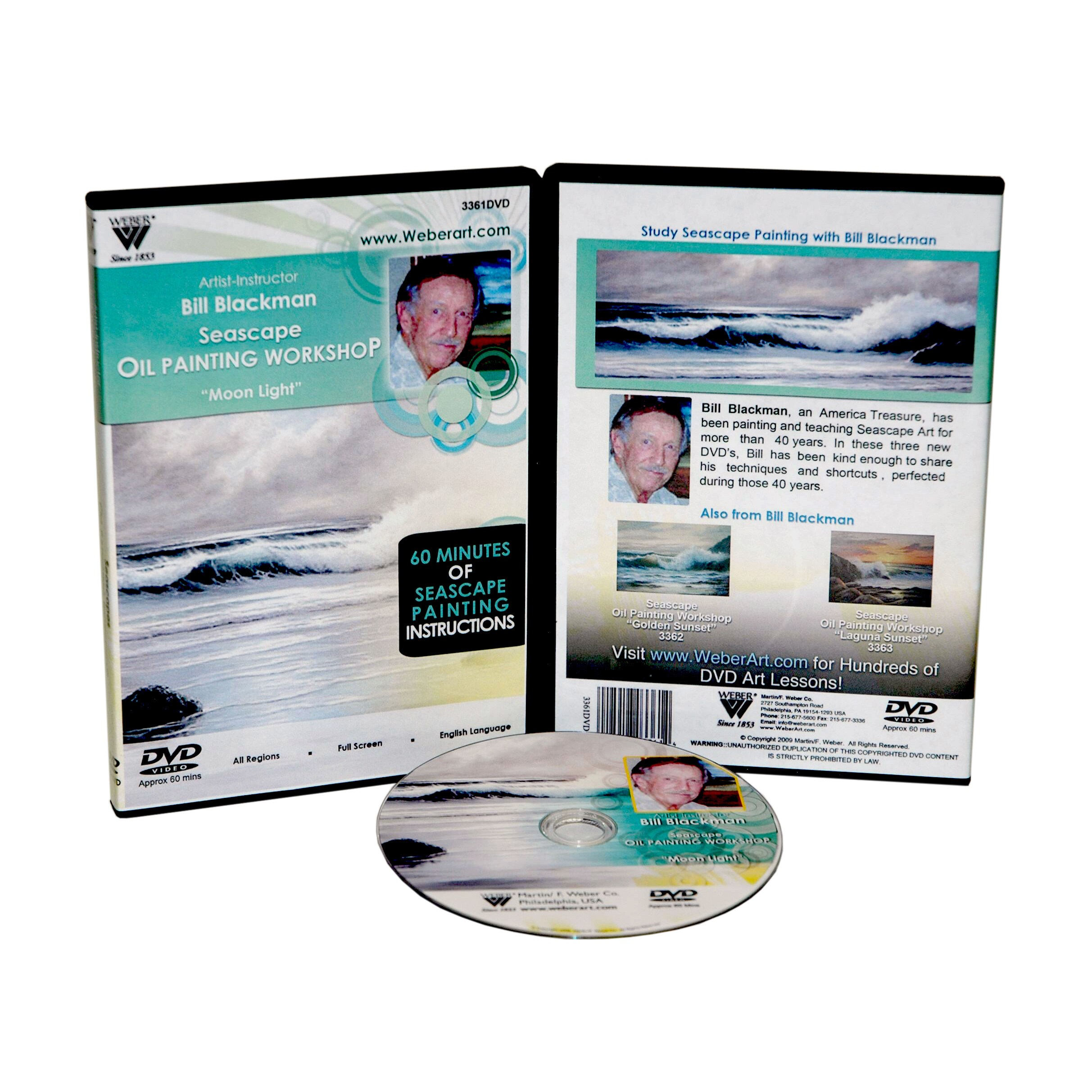Weber Blackman 'Moonlight' Seascape Oil Painting 1 Hour DVD