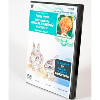 Weber Art Peggy Harris Animal Painting Intermediate Workshop DVD (Baby Jack Rabbits)