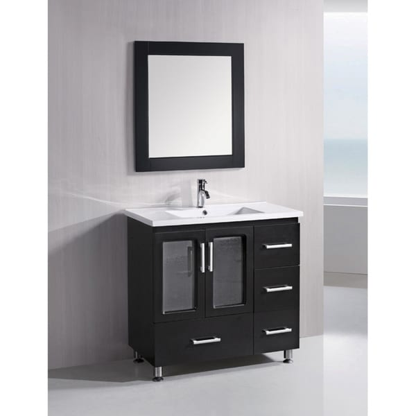 design element solid wood stanton 36 inch modern bathroom