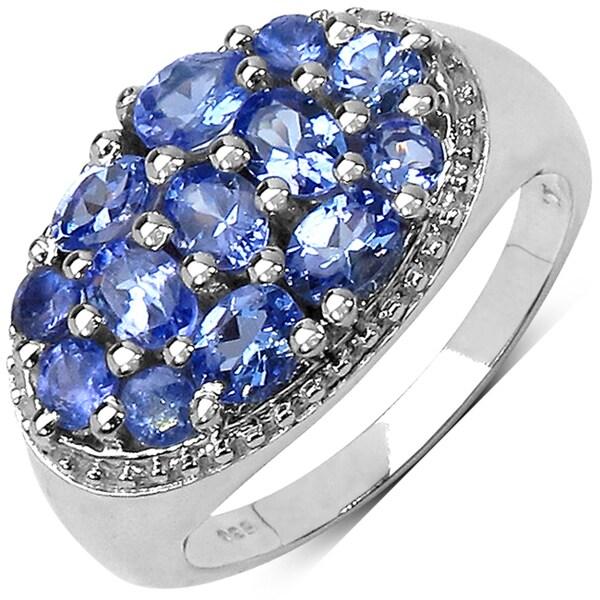 Malaika Sterling Silver Prong-set Tanzanite Women's Ring