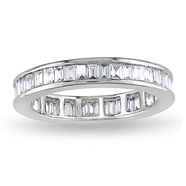 Miadora 18k White Gold 1 1/2ct TDW Diamond Eternity Ring (G-H, VS1-2)