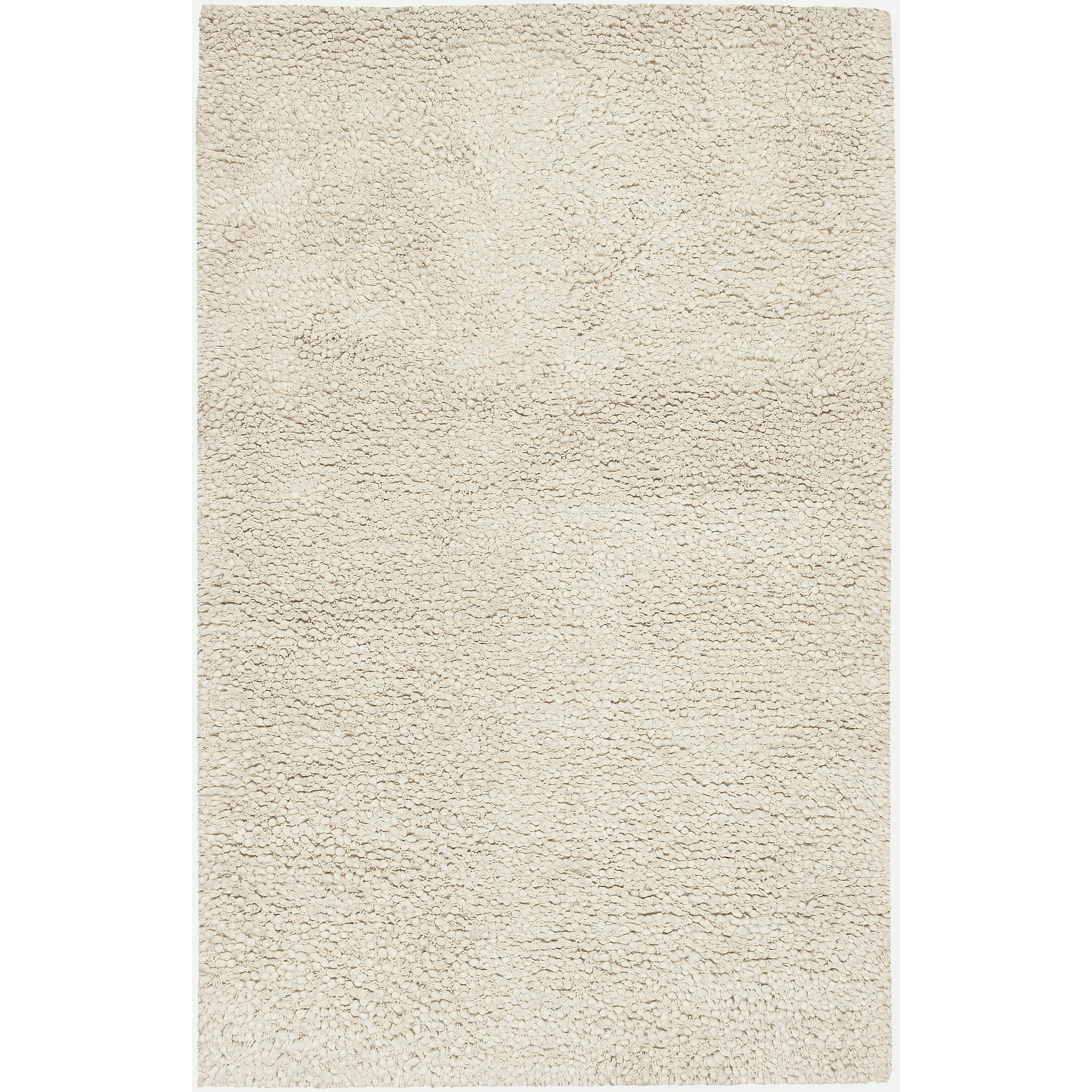 Hand-woven Ramsey Ivory New Zealand Wool Plush Shag Rug (3'6 x 5'6)