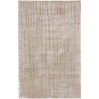 Hand-knotted Cataract Spanish Moss Abstract Design Wool Rug (4' x 6')