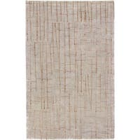 Hand-knotted Cataract Spanish Moss Abstract Design Wool Area Rug - 4' x 6'