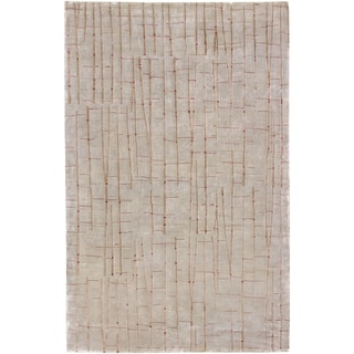 Julie Cohn Hand-knotted Chvelelon Spanish Moss Abstract Design Wool Rug (9' x 13')