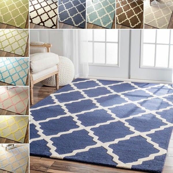 nuLOOM Handmade Alexa Moroccan Trellis Wool Area Rug (6' x 9')