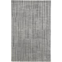 Hand-knotted Carnero Grey Abstract Design Wool Area Rug - 8' x 11'