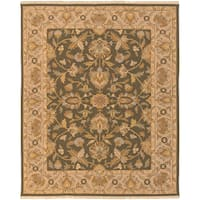 Hand-knotted Goldwater Brown New Zealand Wool Area Rug - 4' x 6'