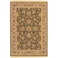 Hand-knotted Havasu Brown New Zealand Wool Area Rug - 6' x 9'