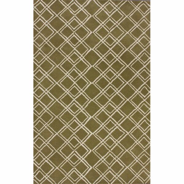 nuLOOM Handmade Moroccan Trellis Wool Rug (5' x 8')