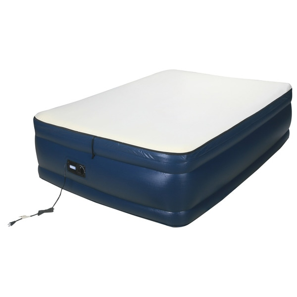 Airtek Raised Memory Foam Full-size Air Bed With Built-in Pump
