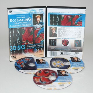 Weber Dahl DVD 3 Disc complete Series with Rosemaling Oil Painting 3 Hour Includes 3290, 3291, 3292 DVDs