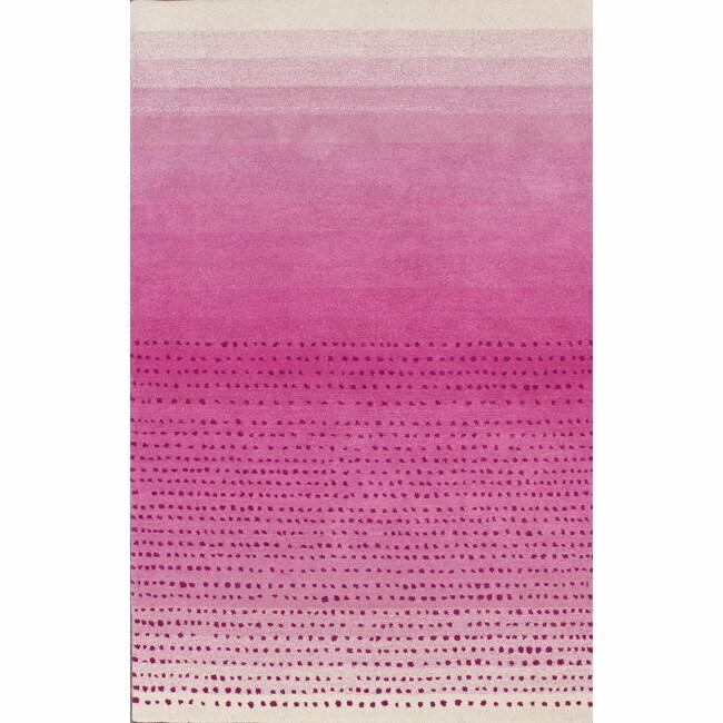 nuLOOM Handmade Ombre Pink Wool Rug (7'6 x 9'6)