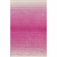 nuLOOM Handmade Ombre Pink Wool Rug (7'6 x 9'6) - 7'6 x 9'6