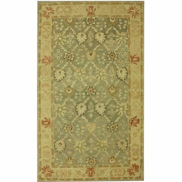 nuLOOM Hand-spun Decorative Persian Natural New Zealand Wool Rug (8' x 10')