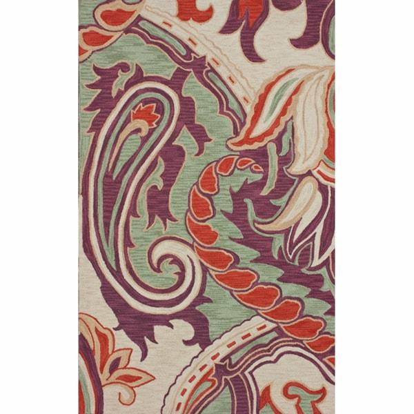 nuLOOM Handmade Paisley Multi Rug (7'6 x 9'6)