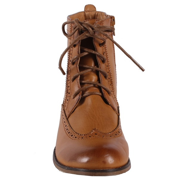 Jacobies by Beston Women's 'Cowgril-5' Combat Ankle Boots
