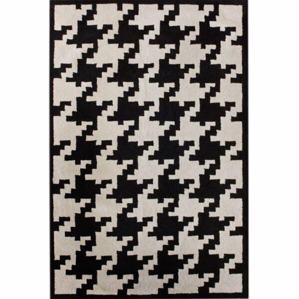nuLOOM Hand-tufted Spectrum Houndstooth Wool Rug (6' x 9')