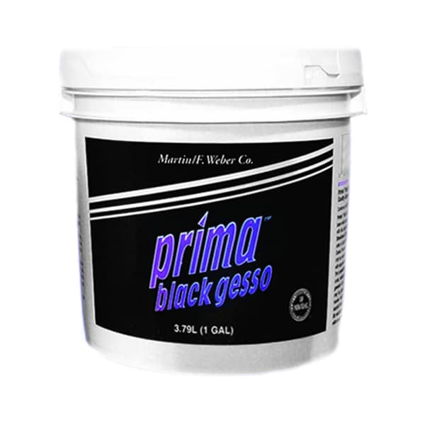 Weber Prima Black Gesso Gallon Acrylic Primer Paint in Emulsion Base