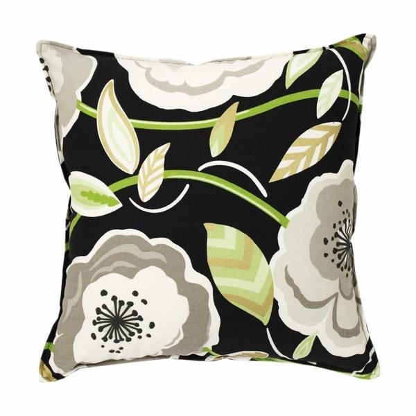 Poppy Galore Black 20-inch Pillow