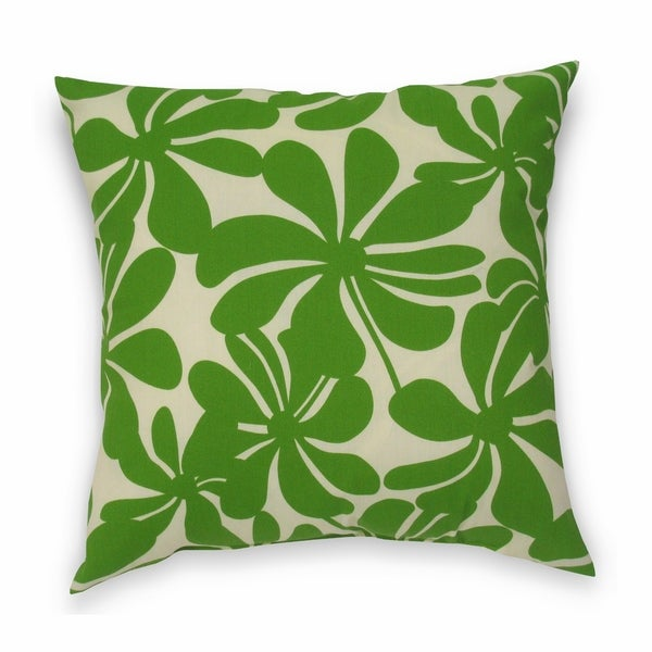 Twirly Polyester Green Outdoor Decorative Pillows (Set of 2)