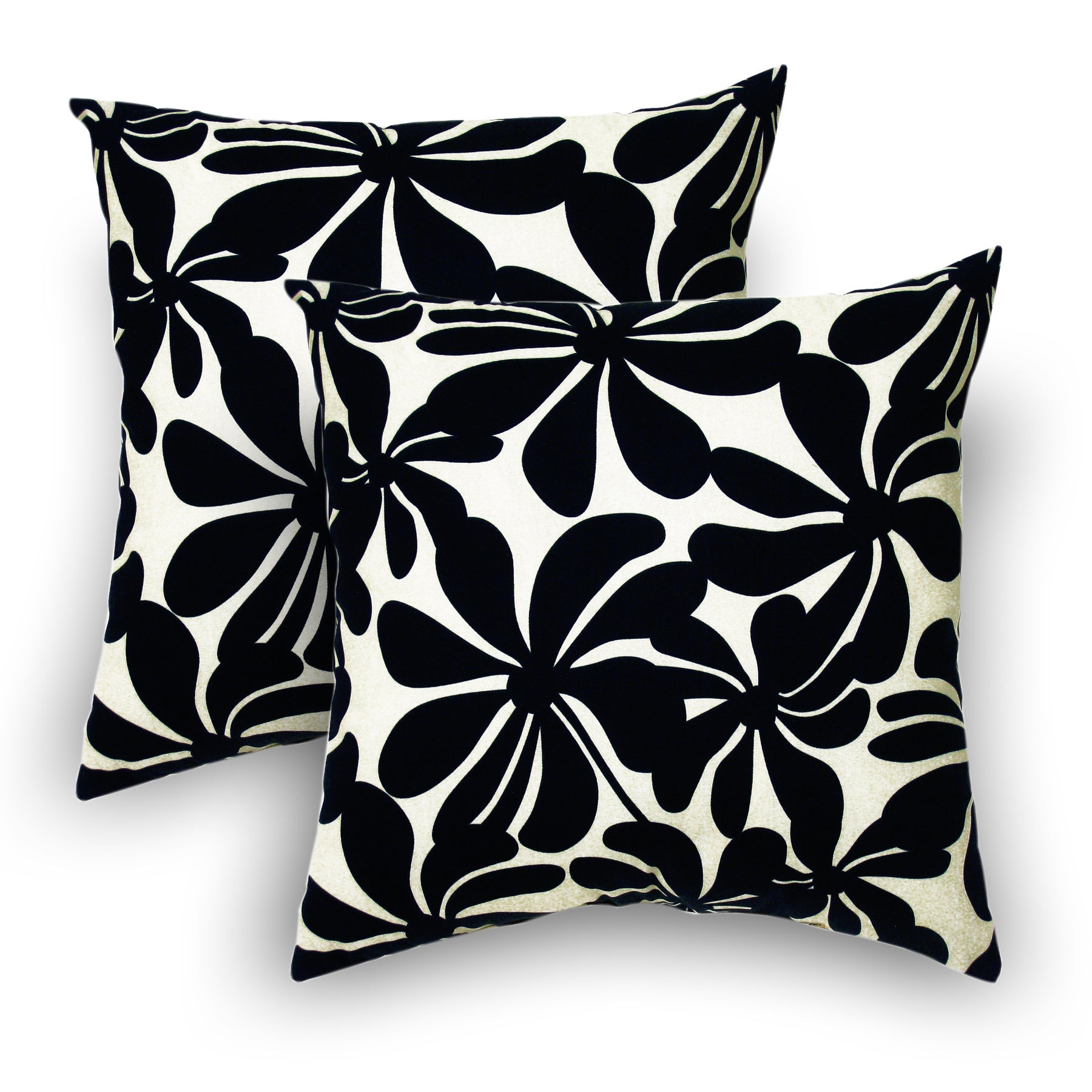 Twirly Polyester Black Outdoor Decorative Pillows Set Of 2 Overstock 7136500