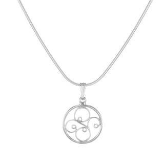 Jewelry by Dawn Small Round Filigree Sterling Silver Snake Chain Necklace