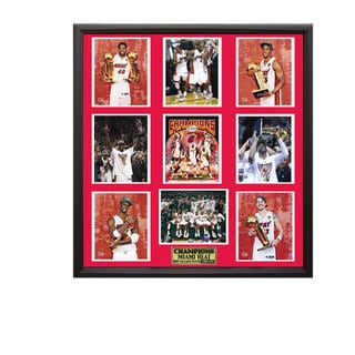 Miami Heat 2012 NBA Champions 30 x 34 Nine-Photo Collage Frame