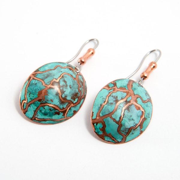 Handmade Brass Earrings with Surgical Steel Hooks (Brazil)