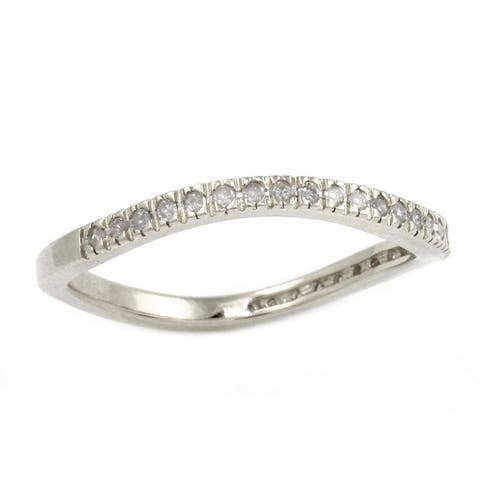 Sterling Silver 1/6ct TDW Curved Diamond Band (H-I, I2)
