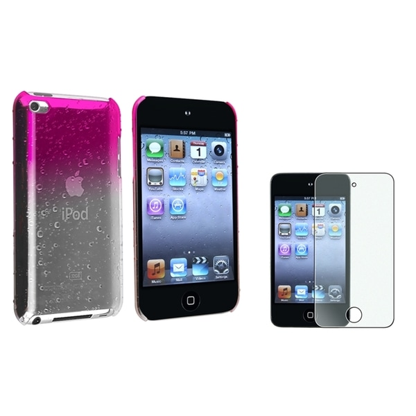 BasAcc Pink Case/Screen Protector Accessory Set for Apple iPod touch Generation 4