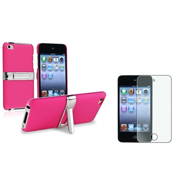 BasAcc Pink Case/ Screen Protector for Apple iPod Touch Generation 4