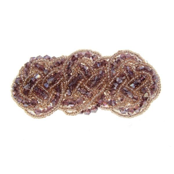 Beaded Barrette in Champagne (China)