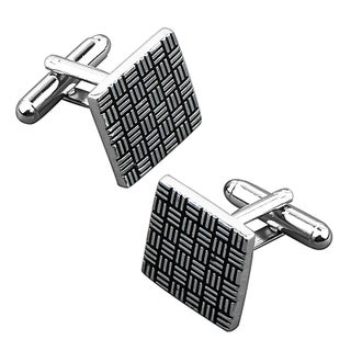 Zodaca Grey/ Black Square Cufflink
