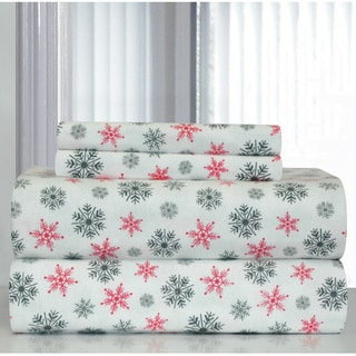 Shop Pointehaven White Snowflakes Printed Heavyweight