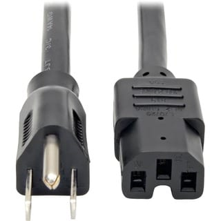 Tripp Lite 4ft Power Cord Cable 5-15P to C15 Heavy Duty 15A 14AWG 4'