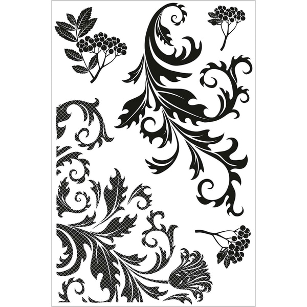 "Twig & Berry Clear Stamps 6.25""X4"" (16x10cm)-Flourish"