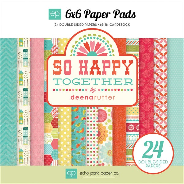 "So Happy Together Double-Sided Cardstock Pad 6""X6"" 24 Sheets-"