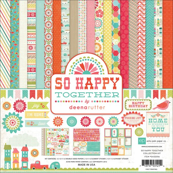 "So Happy Together Collection Kit 12""X12""-"