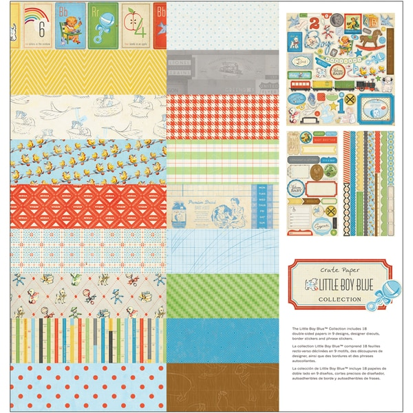 "Little Boy Blue Collection Kit 12""X12""-9 Designs/2 Each"